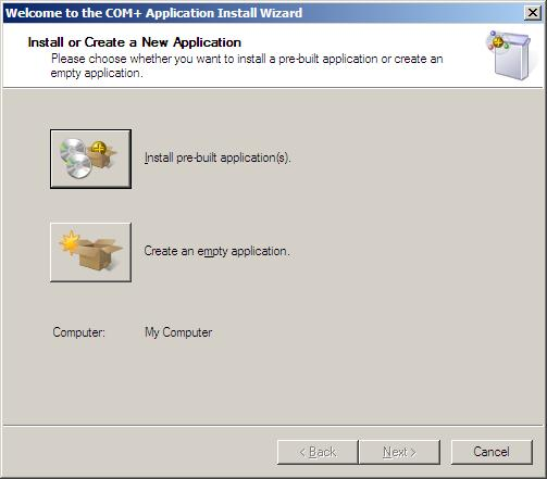 Create empty application